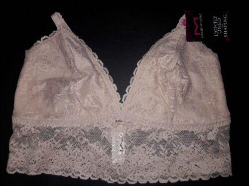 Size S M L XL NWT Maidenform Women Lace Longline Bralette Black//Nude