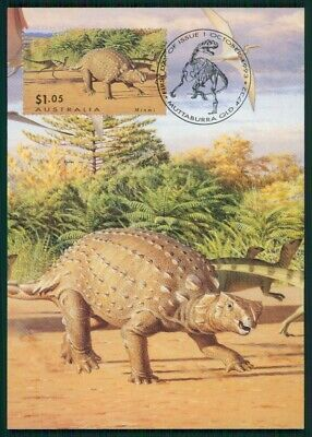 Australia Mk Dinosaurier Dinosaur Dinosaurs Carte Maximum Card Mc Cm En65