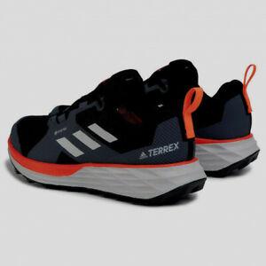 adidas-Terrex-Two-GTX-Trail-Men-039-s-Shoes-Core-Black-Cloud-White-Solar-Red-9