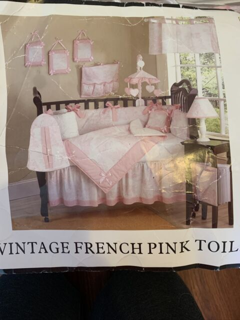 Sweet Jojo Designs Pink And White French Toile Baby Girl Bedding 9pc Crib Set For Sale Online Ebay
