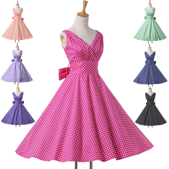 2014 NEW STYLE Vintage Design Swing 50s Retro Pinup Prom Dress XS-XL