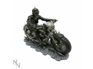 HELL-ON-THE-HIGHWAY-20cm-Nemesis-Now-James-Ryman-Skeleton-Gothic-Biker-FREE-P-P