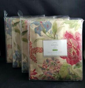 Pottery Barn Marla Floral Print Panel Drape Pole Top Multi