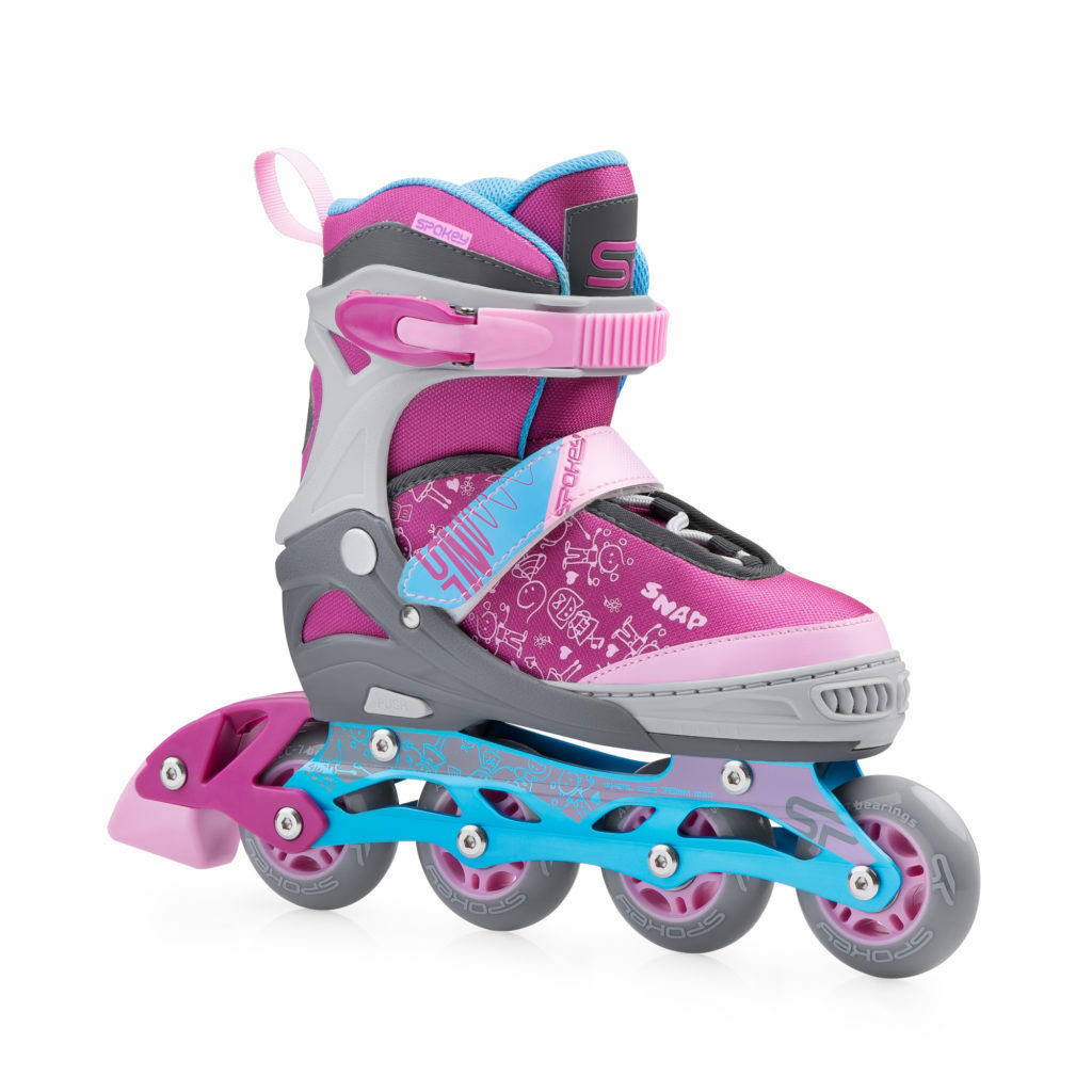 Kinder ABEC7 Mädchen Inlineskates Inliner ABEC7 Kinder Skates Größenverstellbar SNAP Spokey df5ad6