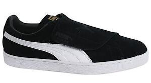 deporte en 363653 de Up 03 Puma para Zapatillas Suede D80 Strap negro cuero hombre pq4qwXU1