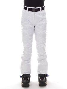 b6375e599473 CMP Pantalons de Ski Snowboard Neige Blanc Ceinture Climaprotect   eBay