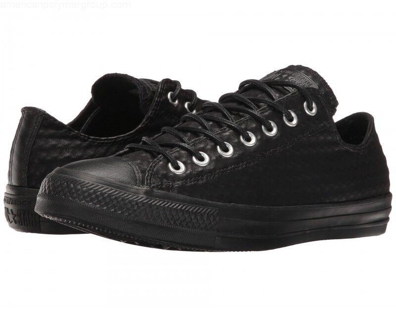 Donna 10    Mens 8 Conversa All Star Craft Leather Ox scarpe da ginnastica nero Sz NWOB  all'ingrosso a buon mercato