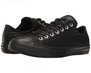 3c04b0b9e291a6 NWOB Converse All Star Craft Leather Ox Sneaker Black Sz Women s 10 ...