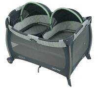 Graco Twins Pack'n Play Playard + Bassinet Mason Brand