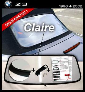 Lunette-arriere-BMW-Z3-Cabriolet-TRANSPARENT-fermeture-eclair-envoi-gratuit