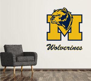 Michigan Wolverines Logo NCAA Wall Decal M Decor Mural Vinyl Stiker
