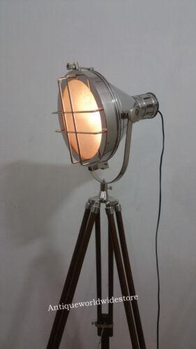 VINTAGE OLD STRAND FILM MOVIE THEATER STAGE LAMP LIGHT TRIPOD  LIGHT