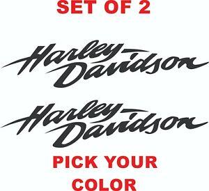 "Harley Davidson sticker vinyl decal 12"" x 2.75"" set of 2 (pick your color)"