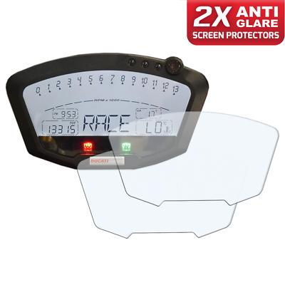 Ducati Diavel Displayschutzfolie Tachoschutzfolie Screen Protector 1 x Ultra-Clear /& 1 x Anti-Glare