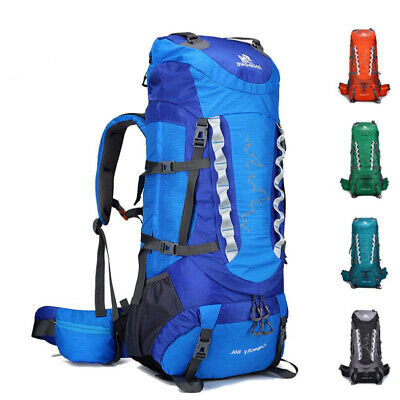 70L Outdoor Tactical Army Rucksack Camping Travel Hiking Backpack Bag  T