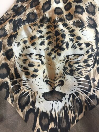 The Specialty House 100% Silk Scarf Cheetah Vintag