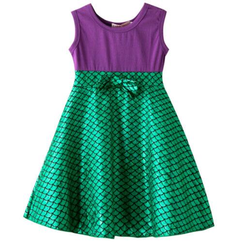 Child Kids Girls Cartoon Polka Dot Bowknot Summer Birthday Sleeveless Vest Dress