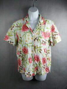 Erika-Womens-Short-Sleeve-Top-Shirt-Floral-Size-Small