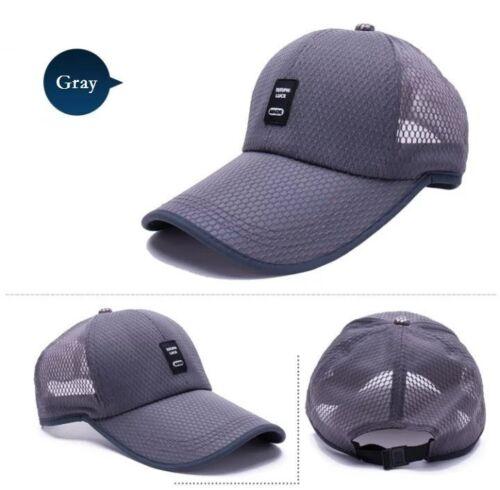 Men Mesh Baseball Cap Trucker Snapback Hat Black Dad Hats for Summer Men Women