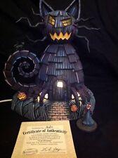 Hawthorne Village Nightmare Before Christmas Cat House With Devil Figurine & COA
