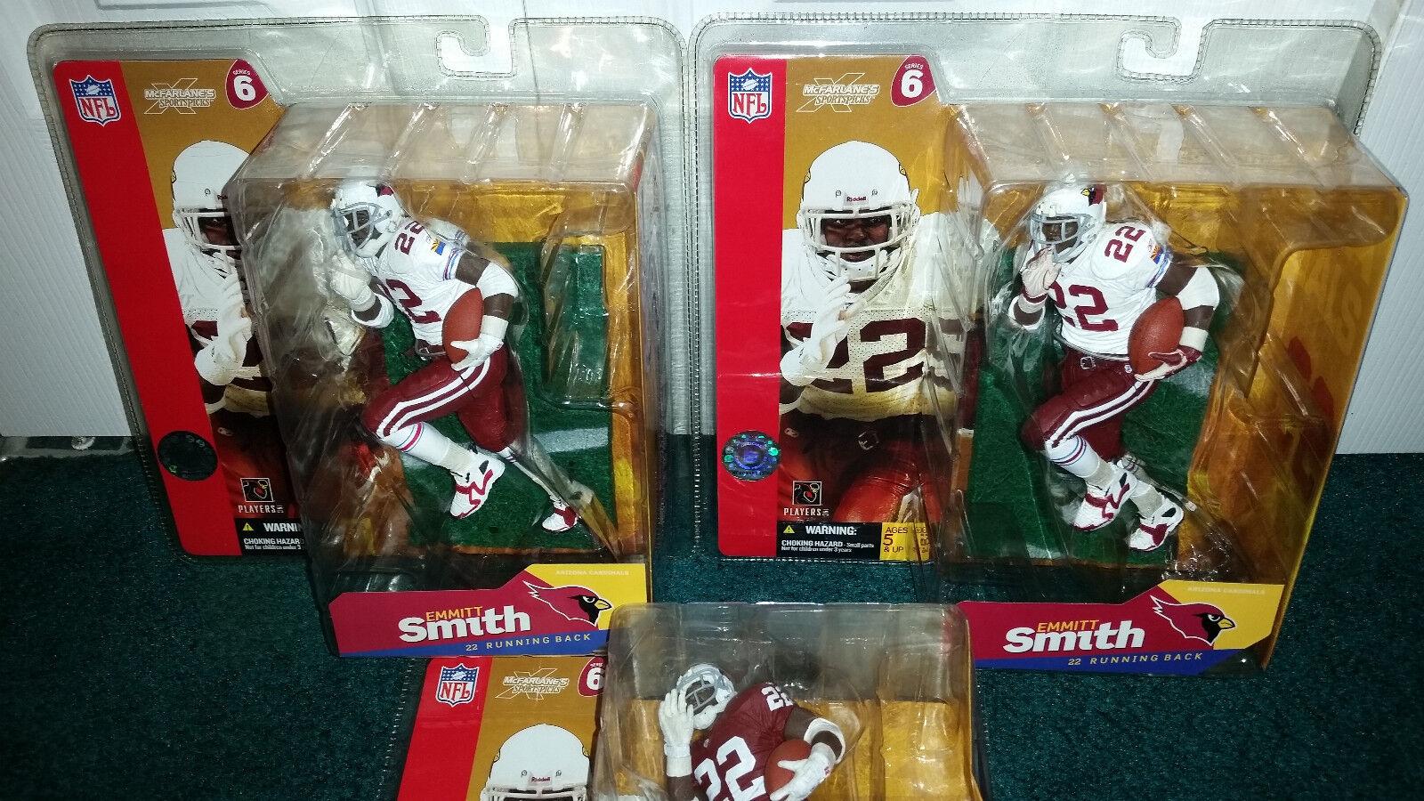 Emmitt Smith 6  lot Variant Chase NFL 6 Mcfarlane Arizona Cardinals MISP