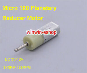 Micro-180-DC-3V-12V-6V-138RPM-Slow-Speed-Planetary-Full-Metal-Gearbox-Gear-Motor
