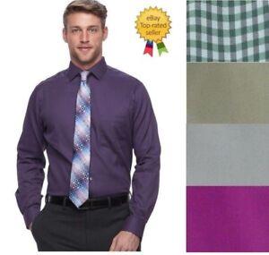 NEW-Van-Heusen-Mens-Flex-Regular-Dress-Shirt-size-15-15-5-17-5-18-18-5