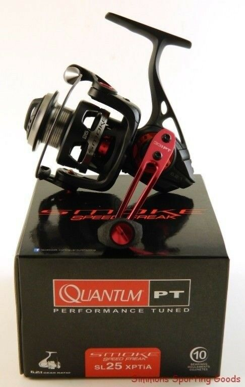 QUANTUM SMOKE SPEED FREAK SL25XPTIA 6.2:1 GEAR RATIO SPINNING REEL