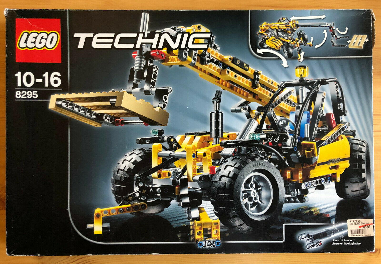 1x Lego Technic Set Modell Construction 8295 gelb Teleskop Lader unvollständig