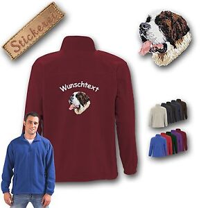 Bernard Saint Cuddly Back deseado Jacket Dog Bordado Fleece Texto wq4xOPfH6
