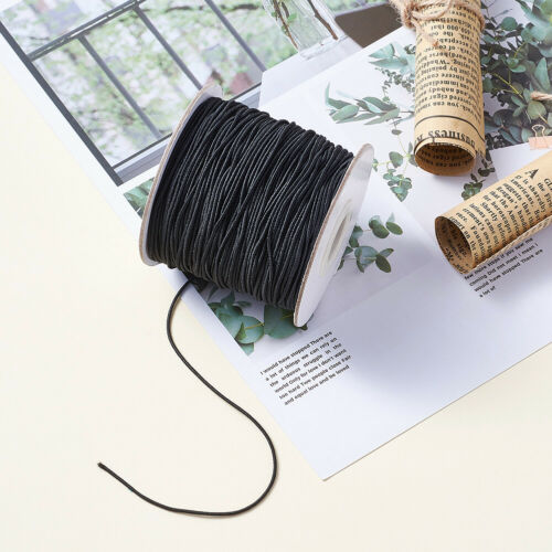 100m//Roll Black Nylon Elastic Cords Stretch Threads Jewelry Beading String 1mm