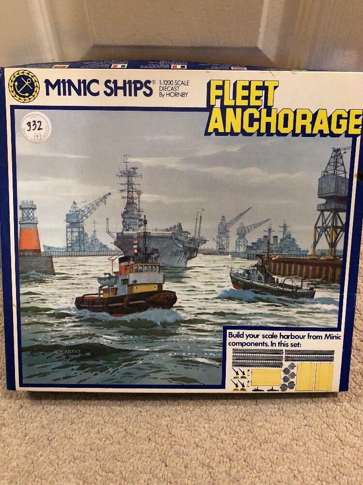 Hornby Triang Minic Ships M904 flota anclaje Conjunto Nuevo Conjunto Completo
