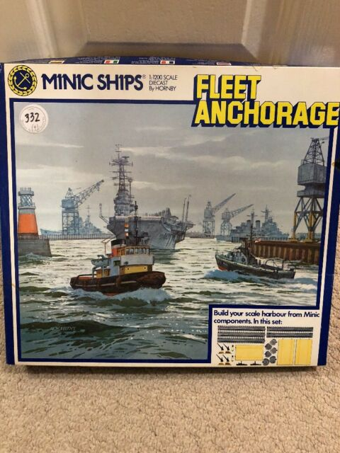 HORNBY MINIC SHIPS TRIANG M904 FLEET ANCHORAGE SET BRAND NEW SET COMPLETE