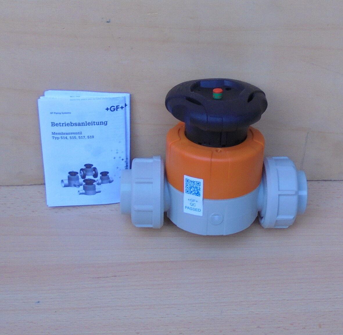 +GF+ Georg Fischer PVC Membranventil Typ 514 d32DN25 167.514.064