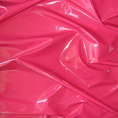 "SHINY VINYL CORSET PLEATHER NON TOXIC GOTH FETISH CLOTH CAT SUITS HOT PINK 54""W"