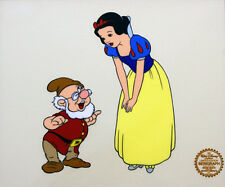 Disney Original Animation Art Cel Snow White Dwarfs Doc