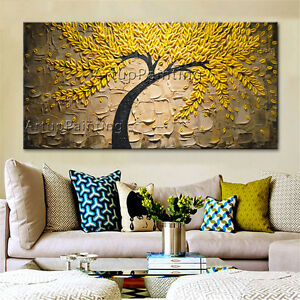 Image Is Loading Flower Tree Oil Painting Canvas Modern Abstract Wall