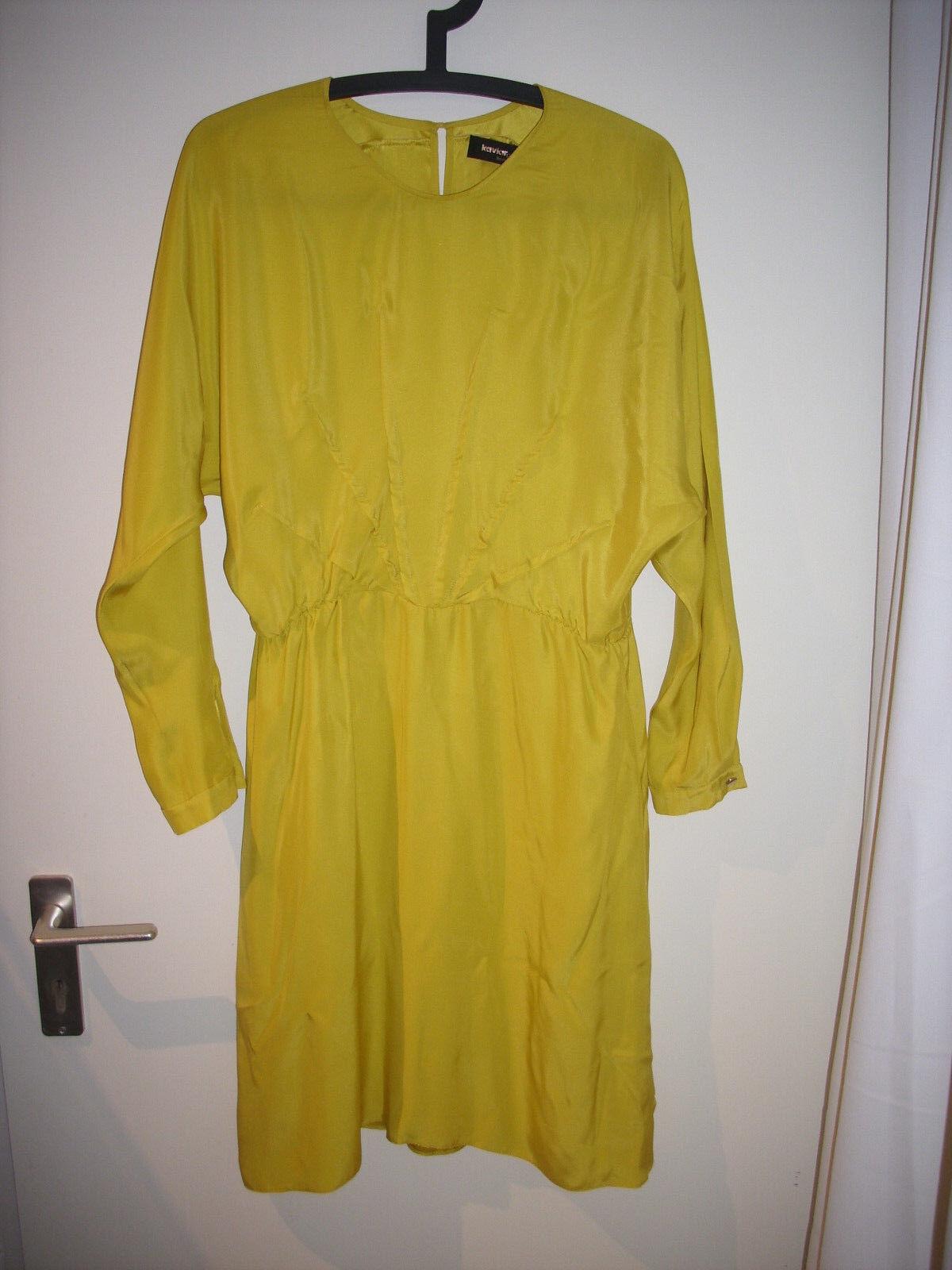 Kaviar Gauche Seidenkleid gelb-Gold 40 (oneGröße)