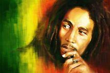 "Bob Marley Rasta in/outdoor Vinyl Bumper Sticker Decal Hippie Rock n Roll 3.25"""
