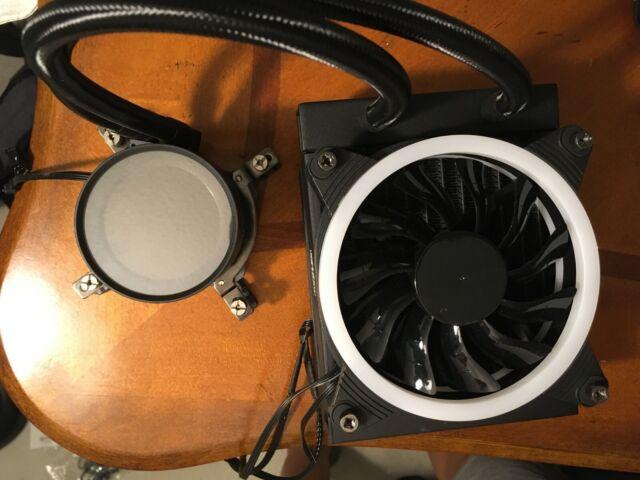 Cooler Master RGB Close-Loop CPU Liquid Cooler, 120mm Double Fans