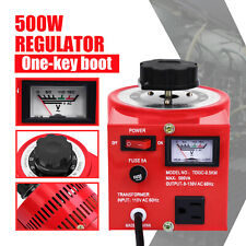 Variac Transformer Variable Ac Voltage Regulator Metered 500w 5amp 0 130v