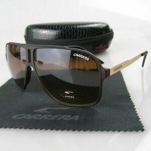 2019-Men-Women-039-s-Retro-Sunglasses-Unisex-Matte-Frame-Carrera-Glasses-Box-KM89