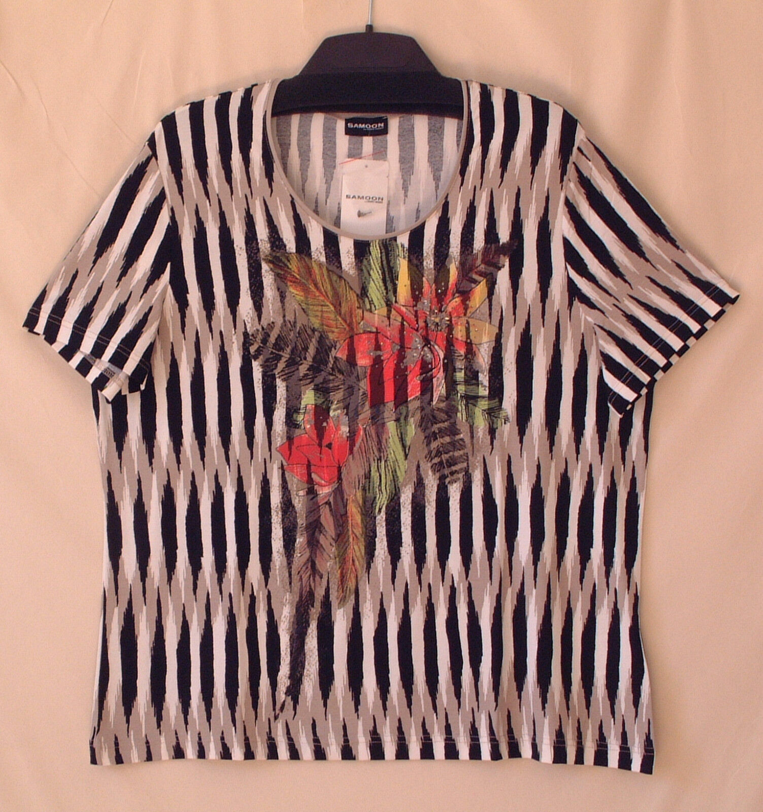 Samoon Shirt Gerry Weber Jersey-Stretch sommerliches Damenshirt Neu Damen Gr.46