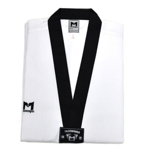DAN DOBOK Black collar uniforms Korean TKD TAE KWON DO Moospo TaeKwonDo uniform