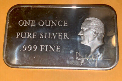President Johnson 1 oz .999 Silver Fine Art Bar