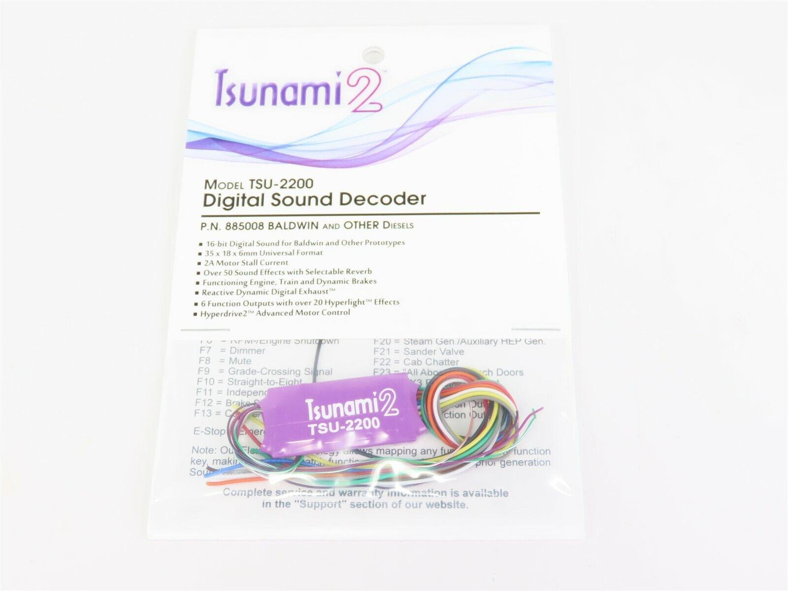 Soundtraxx Tsunami 2 TSU-2200 885008 Baldwin y otros decodificador DCC Sonido Diesel