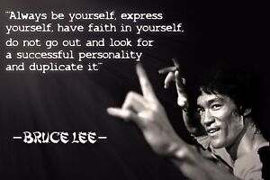 Image Is Loading Be You Bruce Lee Martial Arts Quotes Mini