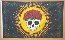 GRACIOUSLY DEPARTED FLAG 3'x5' ROCK & ROLL HIPPY STYLE FLAG DEAD HEADS
