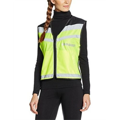 Equisafety Adjustable Yellow Cycling Hi-vis Air Fleece Lined Waistcoat Extra