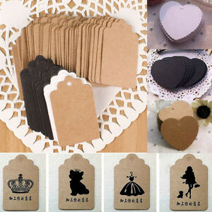 Lot-100Pcs-Blank-Kraft-Paper-Hang-Tags-Wedding-Party-Favor-Label-Price-Gift-Card